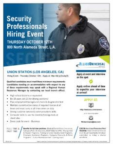 Security Professionals Hiring Event 10/12/17