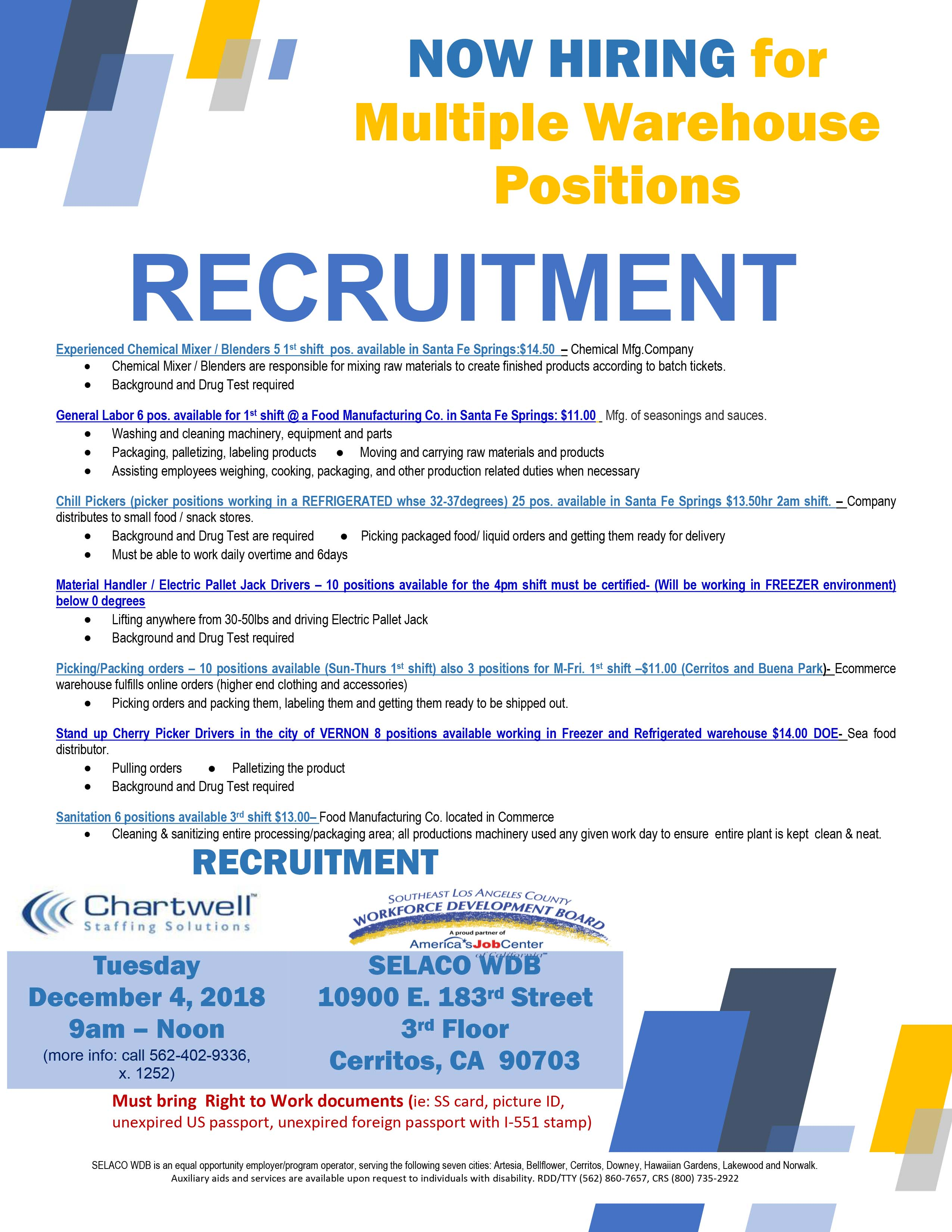 Recruitments – Southeast Los Angeles County